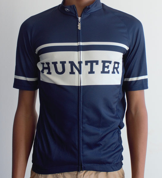Hunter Retro Jersey - Blue and Ivory - Hunter Cycling  - 1