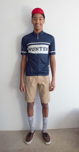 Hunter Retro Jersey - Blue and Ivory - Hunter Cycling  - 3