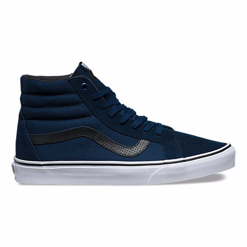 Vans SK8-HI Cord & Plaid Re-Issue (Dress Blues) - Hunter Cycling  - 1