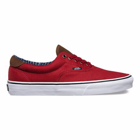Vans Cord& Plaid Era 59 (Red) - Hunter Cycling  - 1
