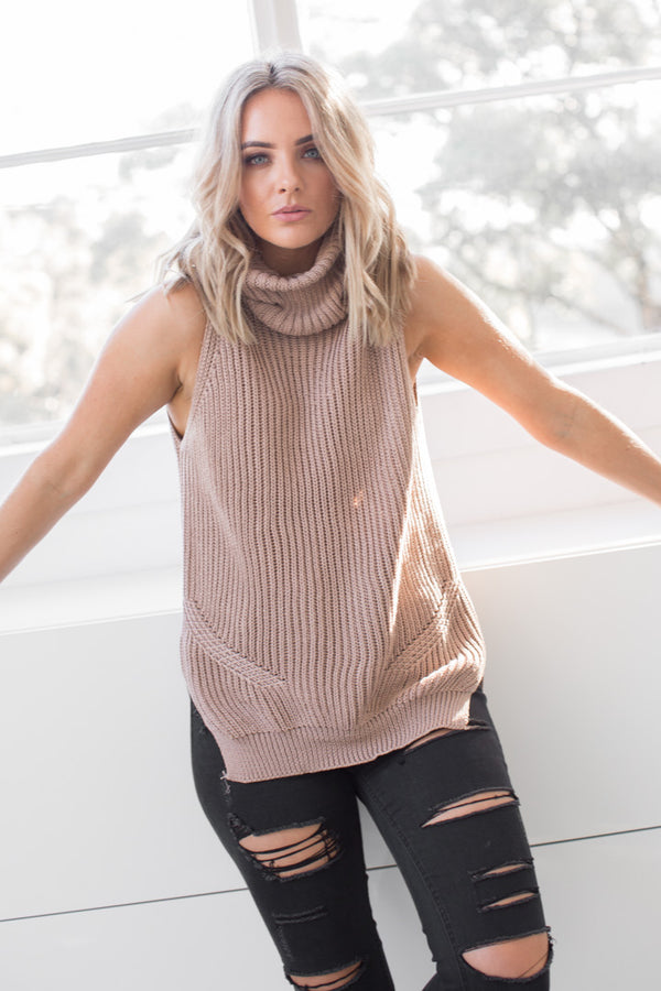 HUDSON KNIT MOCHA - SALE ITEM