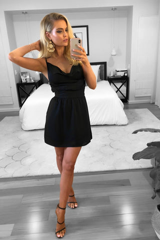 IMOGEN DRESS BLACK - SALE ITEM