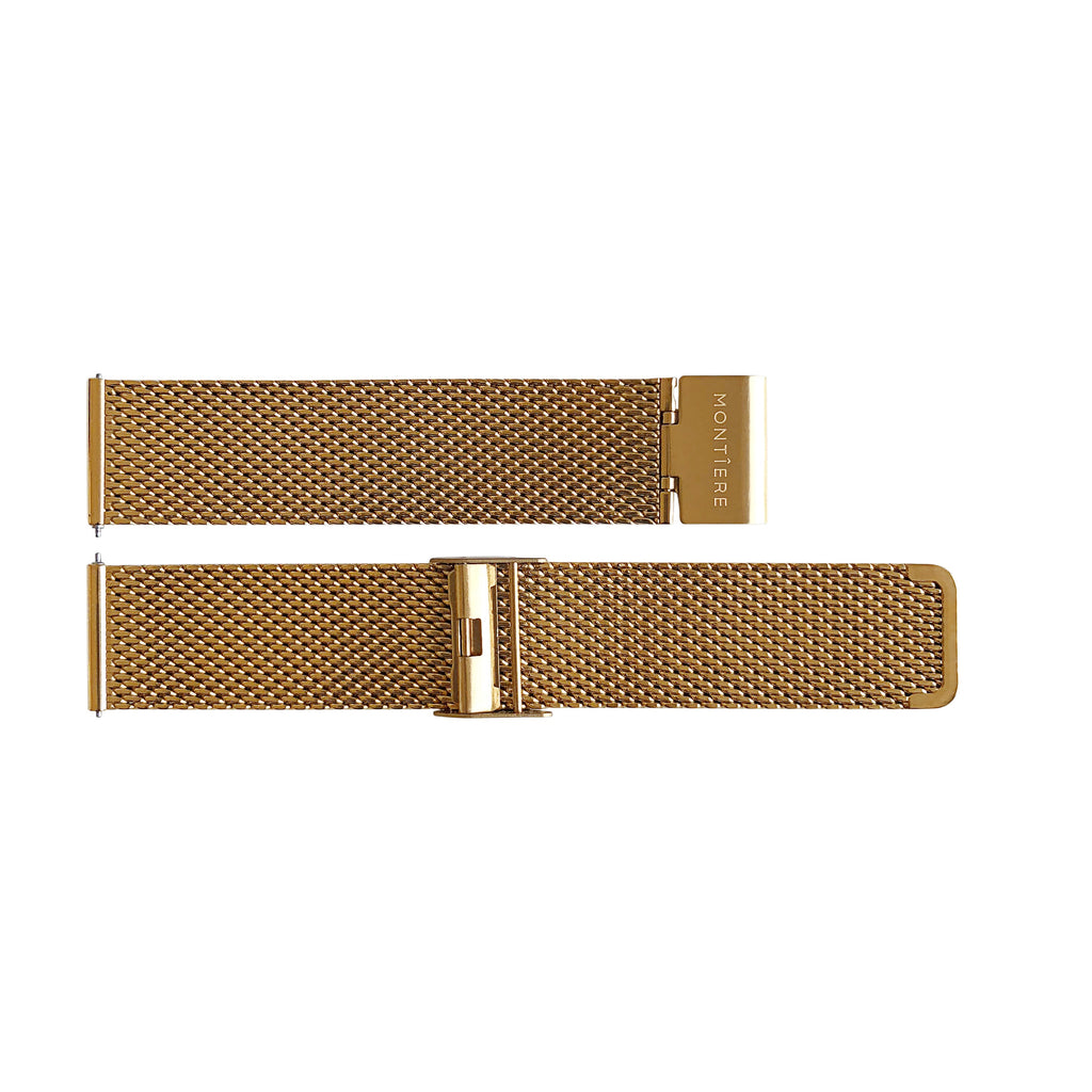 Rouése N°42 Stainless Steel Mesh Gold Watch Strap