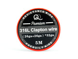 316L (SS) Clapton Coil Wire 26+26/32ga. Excellent for TC devices!