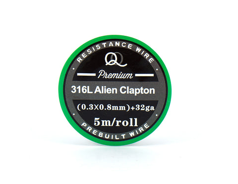316L (SS) Alien Clapton Coil Wire 0.3x0.8mm+32ga. Excellent for TC devices!
