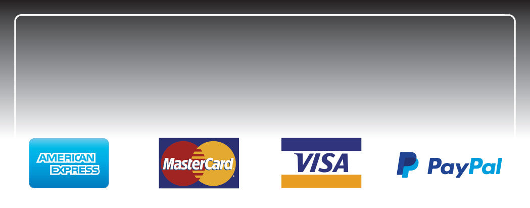 ALL MAJOR CREDIT CARDS & PAYPAL
