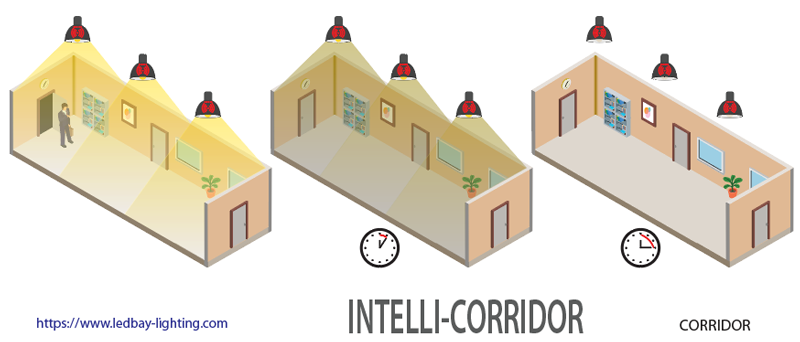 LEDbay Intelli-Corridor smart lighting system for corridors