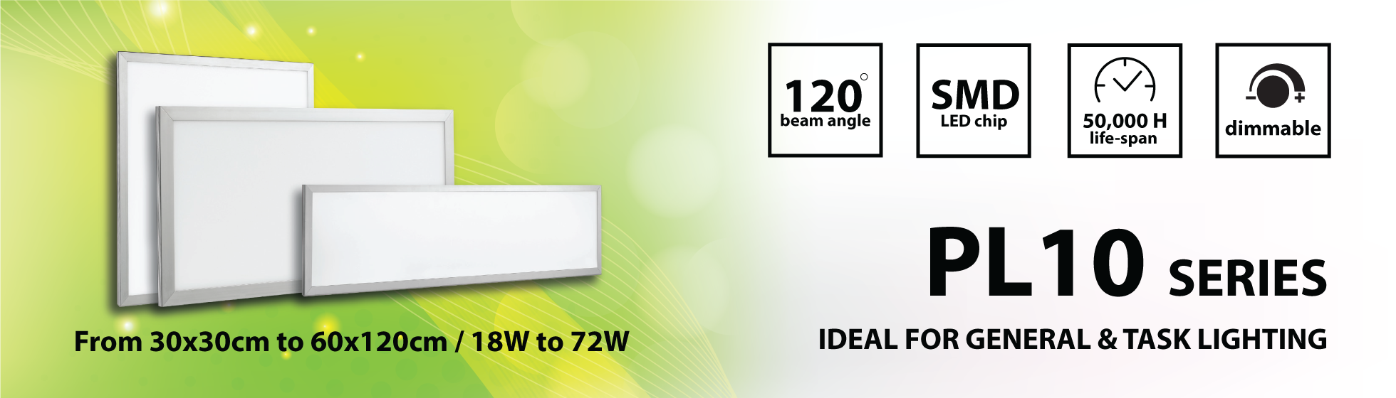 LEDbay PL10 dimmable / color changeable LED panel lights