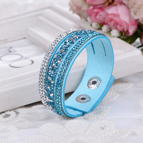 Crystal Leather Bracelets
