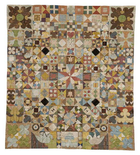 1718 Coverlet Reproduction Printed Fabric Panel