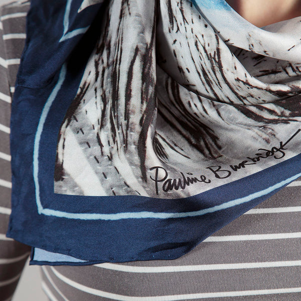 Honesty Skyline Silk Scarf