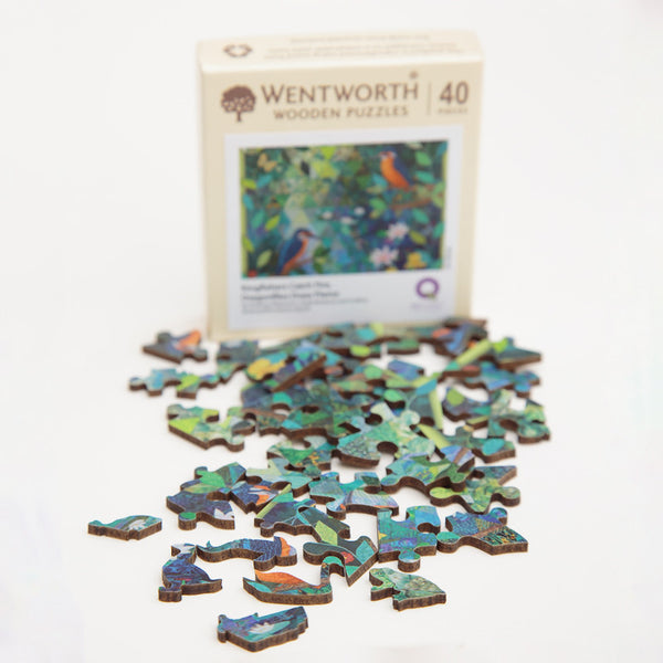 Wentworth Wooden Jigsaw Puzzle Kingfishers Catch Fire... - Micro