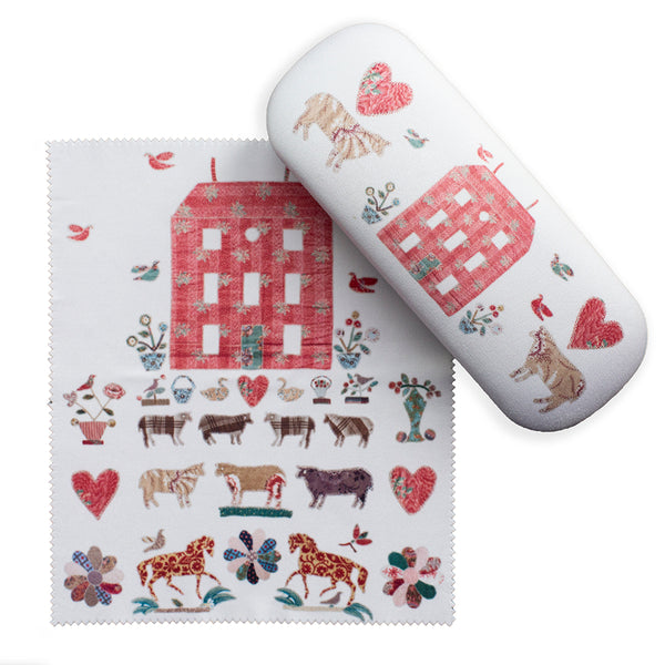 Red Manor House Glasses Case + Lens Cloth