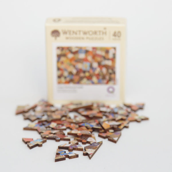 Wentworth Wooden Jigsaw Puzzle - Crazy Patchwork, Micro
