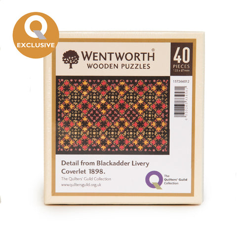 Wentworth Wooden Jigsaw Puzzle; Blackadder Livery Coverlet Detail - Micro (40 pieces)