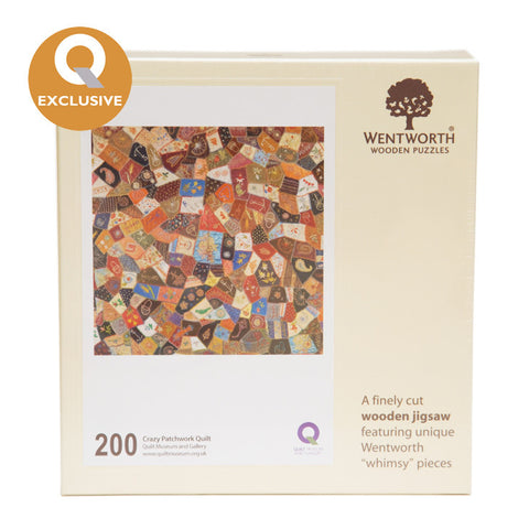 Wentworth Wooden Jigsaw Puzzle Crazy Patchwork - Maxi (200 pieces)