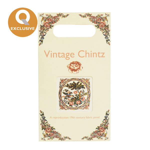 Vintage Chintz Fabric Panel