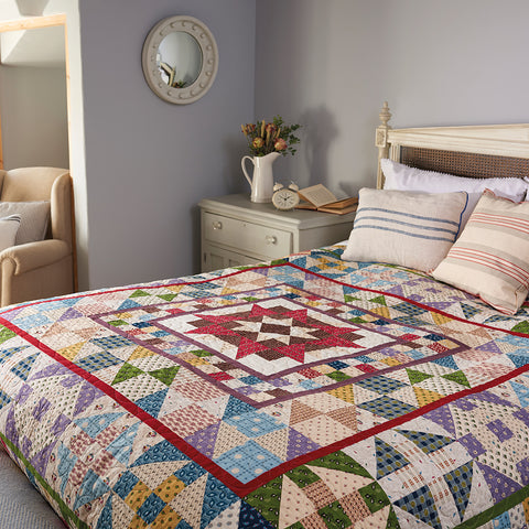 Devon County Medallion Quilt Top Kit