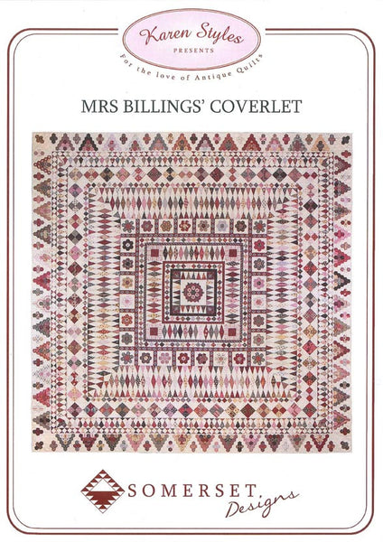 Mrs Billings Coverlet Pattern Kit The Quilters 39 Guild Shop