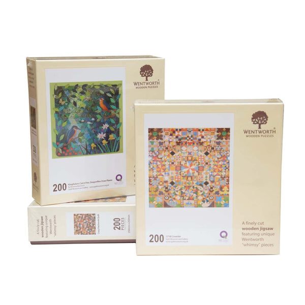 Wentworth Wooden Jigsaw Puzzle Log Cabin Coverlet - Maxi (200 pieces)