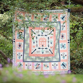 Red Manor House Quilt Pattern - digital download