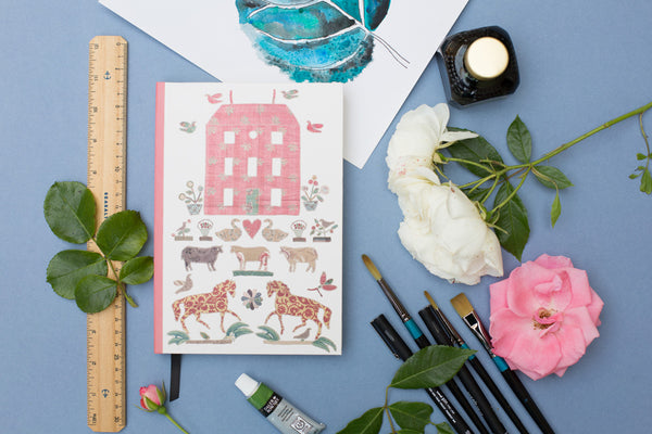 Red Manor House Notebook