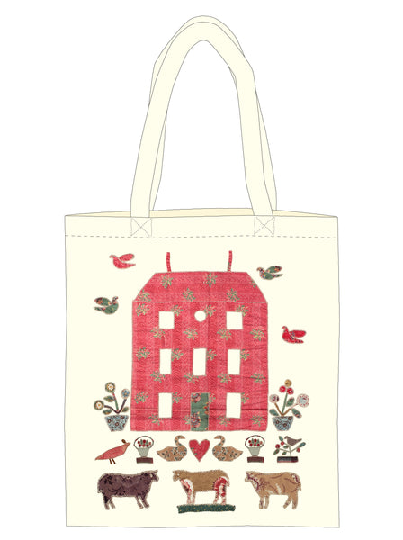 Red Manor House Tote Bag