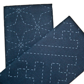 Sashiko Pre-printed Indigo Cotton Square