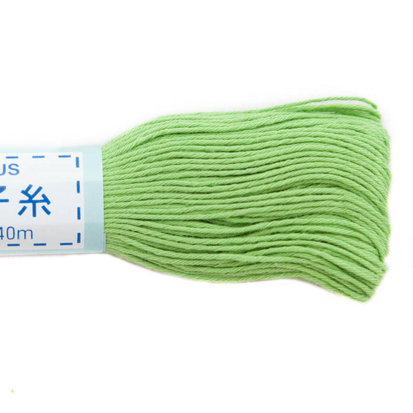 light green sashiko thread