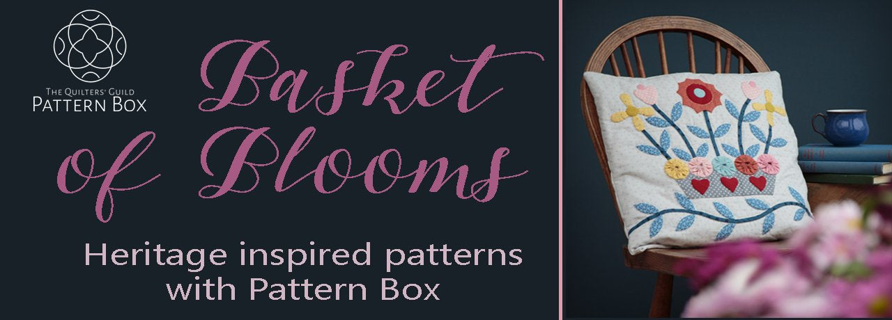 Basket of Blooms Applique cushion patter