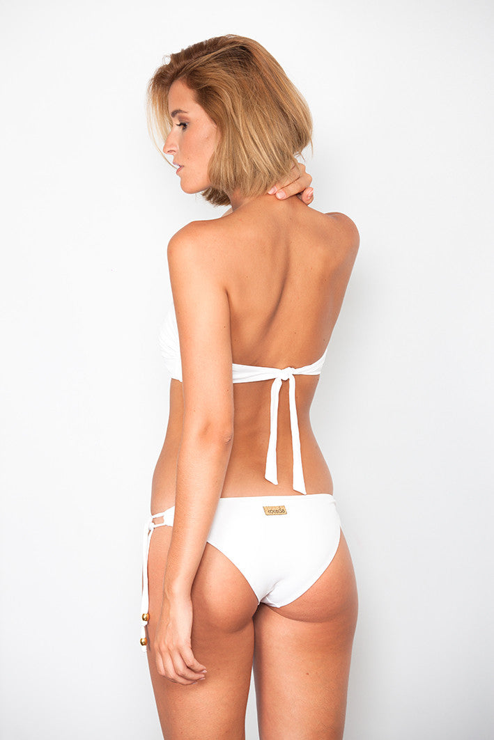 White Bandeau with Oval Link