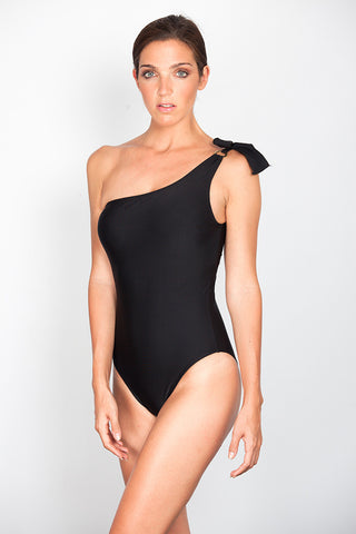 Black Asymmetric Swimsuit