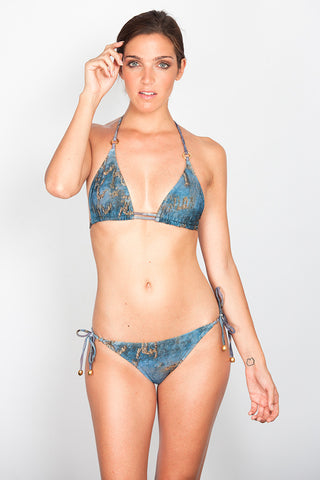 India Print Triangle Bikini