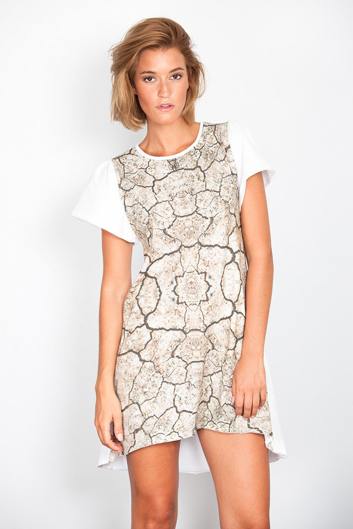 Cracks Print Dress