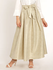 Box Pleated Maxi Skirt
