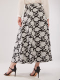 Invert Pleated Floral Print Maxi Skirt