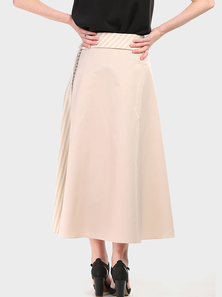 2001002-Double Fabric Skirt - Montania Shop
