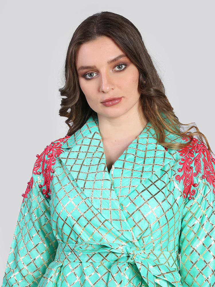 2054004-Fancy Layered Kaftan - Montania Shop