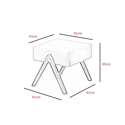 Retrostar Footstool Dimensions