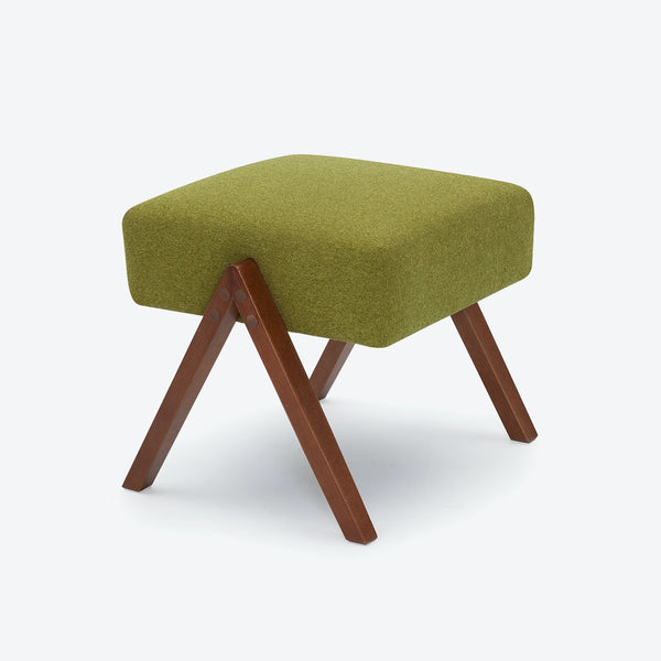 Retrostar Footstool - Basic Line in Mustard-Green | Sternzeit Design