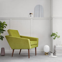 Supernova Chair - Velvet Line in Apple Green - Sternzeit Design | Occasional Chair