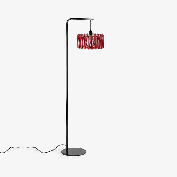 Black Macaron Floor Lamp - Red - by Emko