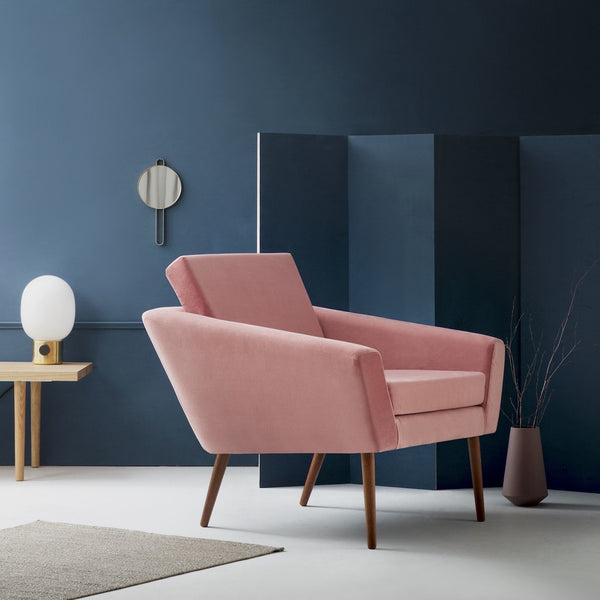 Supernova Chair - Velvet Line in Vintage Pink - Sternzeit Design | Occasional Chair