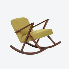 Retrostar Rocking Chair - Sternzeit Design - Basic Line in Yellow | Retro Armchair