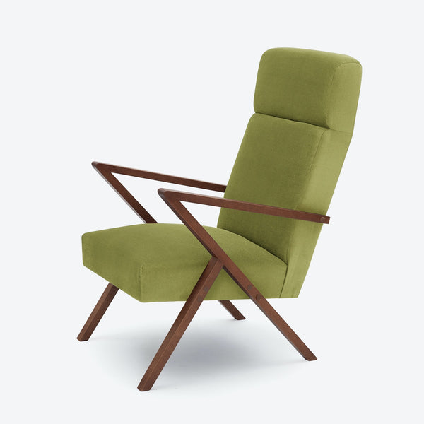Retrostar Lounge Chair - Sternzeit Design - Velvet Line in Apple Green | Retro Armchair-Primrose Homeware
