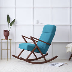 Retrostar Rocking Lounge Chair - Sternzeit Design - Basic Line in Turquoise | Retro Armchair