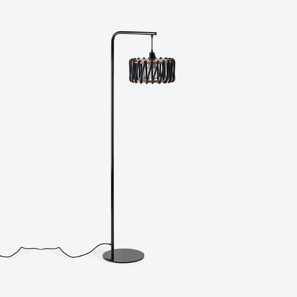 Black Macaron Floor Lamp - in Black - Rope Lamp by Emko-Primrose Homeware