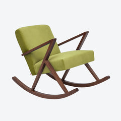 Retrostar Rocking Chair - Sternzeit Design - Velvet Line in Apple Green | Retro Armchair