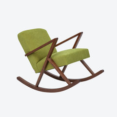 Retrostar Rocking Chair - Sternzeit Design - Basic Line in Mustard Green | Retro Armchair