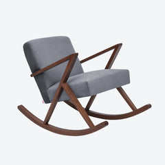 Retrostar Rocking Chair - Sternzeit Design - Velvet Line in Grey | Retro Armchair
